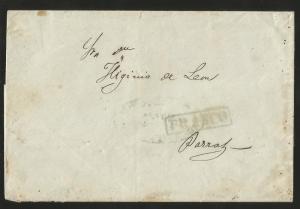 J) 1860 MEXICO, BLACK SEAL, GREEN BOX CANCELLATION FRANCO, COMPLETE