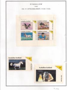 SCOTLAND - EYNHALLOW - 1982 - Myth Beasts - Perf 4v, Souv, D/L Sheets - MLH