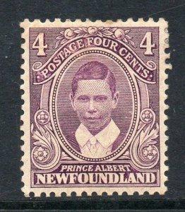 Newfoundland 1911 Coronation 4c Prince Albert SG 120 mint CV £25