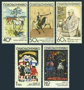 Czechoslovakia 1806-1810,MNH.Michel 2060-2064. Czech and Slovak graphic Art,1972