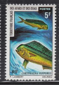 Afars & Issas 1971 MNH Scott #354 5fr Coryphaena hippurus