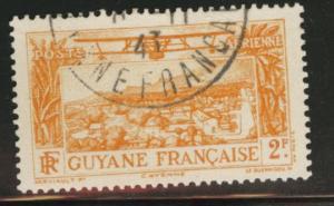 French Guiana Scott C4 used CTO 1933 Cayenne Airmail