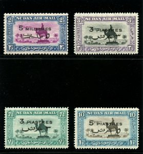 Sudan 1938 KGVI set complete superb MNH. SG 74-77. Sc C31-34.