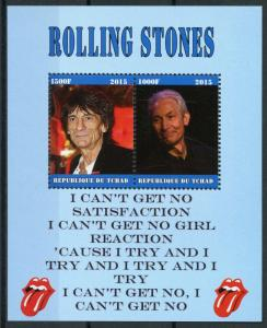Chad 2015 MNH Rolling Stones Ronnie Wood 2v M/S Music Famous People Stamps