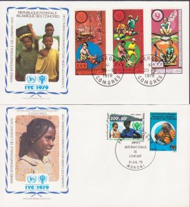 COMOROS AFRICA YEAR OF CHILD 1979 3 FDC's 17432