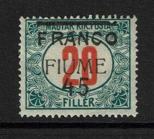Fiume SC# 25, Mint Hinged, Hinge Remnant, minor gum creasing - S4259