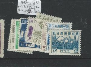 MALAYA JAPANESE OCCUPATION(P3012B) SENERAL ISSUE SET TO 70C SGJ297-306 MOG