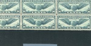 UNITED STATES C24 MINT NH VF TOP PLATE BLOCK OF 6