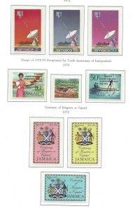 Jamaica 340 thru 342, 360 thru 365 OGNH Post Office Fresh!!
