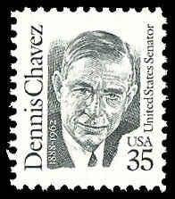 PCBstamps  US #2186 35c Dennis Chavez, 1991, MNH, (7)