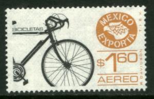 MEXICO Exporta C491a $1.60P Bicycles Unwmk Thin Paper 3 MINT, NH. VF.