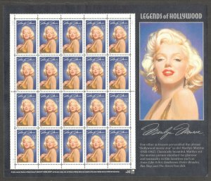 2967 Marilyn Monroe Sheet Of 20 Mint/nh Selling At Face