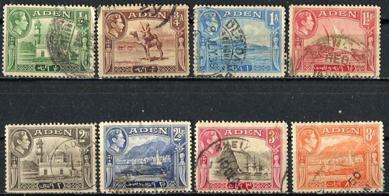 Aden; 1939; Sc. # 16-23; O/Used Cpl. Set