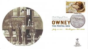 Owney the Postal Dog First Day Cover, with DCP postmark,  #3