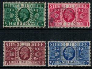 Great Britain #226-9  CV $7.45  Silver Jubilee