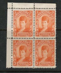 Newfoundland #83 Very Fine Mint Corner Block - Top Stamps Never Hinged Bottom LH