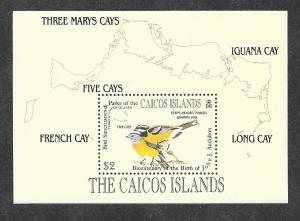 Caicos Islands 64 Mint NH Souvenir Sheet John J Audubon!