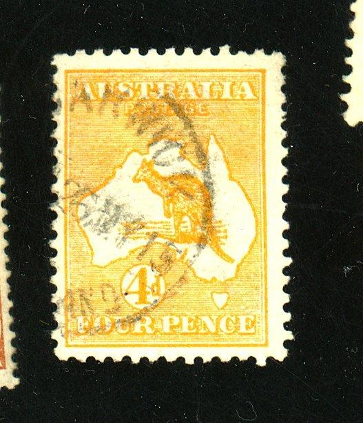 AUSTRALIA #6 USED F-VF Cat $40