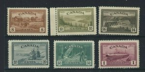 6x Canada MH Peace Stamp Set No. 268-273 All MH VF Cat. Value= $100.00