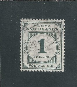KUT POSTAGE DUE 1928-33 1s GREY-GREEN FU SG D6 CAT £140
