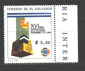 Salvador. 1994. 1957. International Trade Fair in El Salvador. MNH.