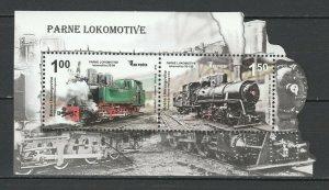 Bosnia and Herzegovina 2012 Trains Locomotives / Railroads MNH Block