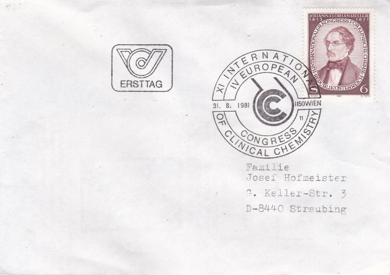 Austria 1981 11th International Chemistry Conference Vienna FDC VGC