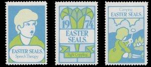 USA CINDERELLA STAMP. EASTER SEAL 1974. UNUSED. # 33