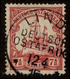 Germany East Africa DOA Ostafrika Mi32 WWI 1915 Lindi Cancel 69507