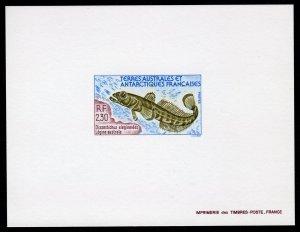 FSAT 1992 Sc#168 Marine Life Dissostichus eleginoides Deluxe S/S Imperf.MNH