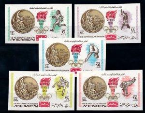 1968 Yemen Kingdom 620-24b 1968 Olympic Games in Mexiko 18,00 €