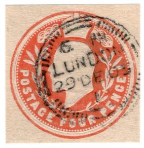 (I.B) Edward VII Postal : Embossed Die 4d (London)