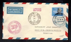 1934 Germany to Brazil Graf Zeppelin LZ 127 Cover # C56 South America Flight