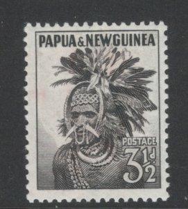 Papua New Guinea 1958 Chimbu Headdress 3 1/2p Scott # 139 MNH