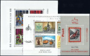 2000 Austria Complete Year set with all Sheets+Definitives VFMNH! CAT 125$ 12%