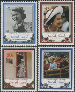 Norfolk Island 1986 SG389-392 QEII 60th birthday set MNH