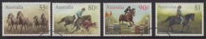 AUSTRALIA SG1010/3 1986 AUSTRALIAN HORSES FINE USED