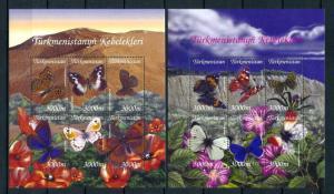 [98857] Turkmenistan 2002 Insects Butterflies 2 Sheets MNH