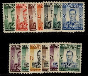 SOUTHERN RHODESIA SG40-52, complete set, LH MINT. Cat £85.