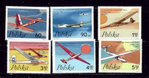 Poland 1585-90 MNH 1968 Gliders