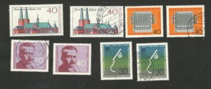 GERMANY - 4 MNH+4 USED STAMPS -famous  AND OTHER - 1973. (65)