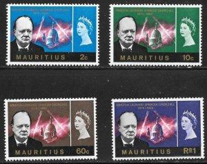 Mauritius (1966) - Scott # 295 - 298,   MH