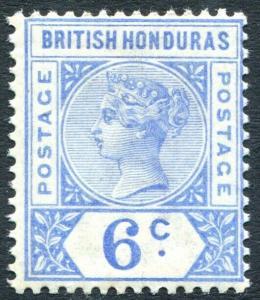 BRITISH HONDURAS-1891-1901 6c Ultramarine Sg 56 UNMOUNTED MINT V31219