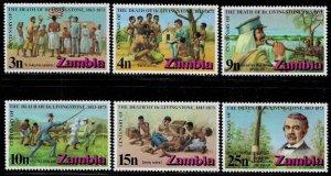 Zambia #99-104 MNH Set - Dr David Livingstone