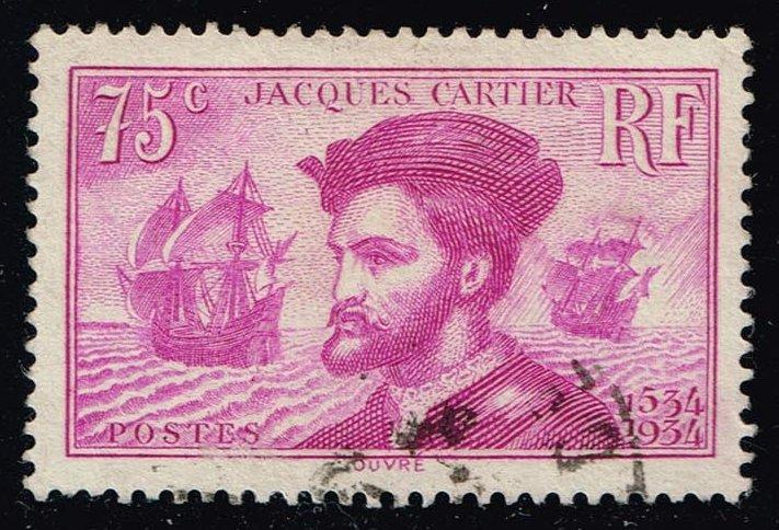 France #296 Jacques Cartier; Used (2.25)