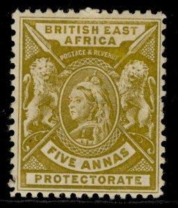 BRITISH EAST AFRICA QV SG72, 5a yellow-bistre, M MINT.