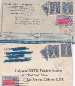 Guatemala 4 Covers with Bisect 1940s