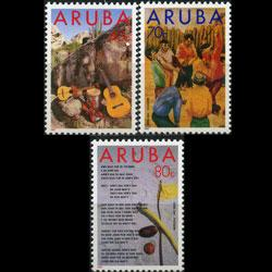 ARUBA 1993 - Scott# 92-4 Folklore Set of 3 NH