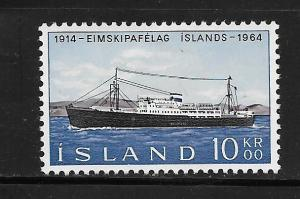 ICELAND, 359, MINT HINGED, STEAMSHIP