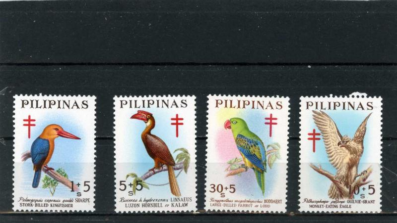 PHILIPPINES 1967 Sc#B32-B35 FAUNA/BIRDS SET OF 4 STAMPS MNH